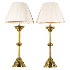 Candlestick Lamp by Pair French Brass Candlestick Lamps Candlesticks Modern Table
