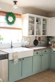 kitchen cabinets painted a pop of color inside the cabinets click
