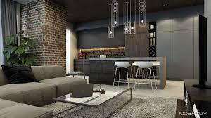 brick wall interior warm home design