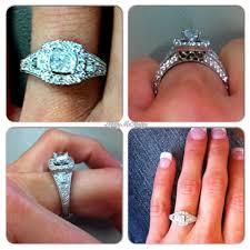 neil lane engagement rings my vintage cushion cut halo engagement ring by neil lane i love