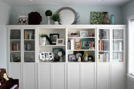 Ikea Bookshelves Built In by Diy Built In Bookshelves Ikea Billy Hack Vanilla Joy