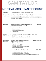 Office Assistant Resume Sample by Medical Assistant Resume Examples Resume Templates