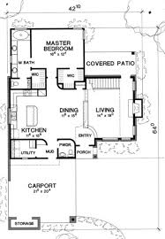 Carport Porte Cochere Modern Style House Plan 3 Beds 2 50 Baths 1905 Sq Ft Plan 472 7