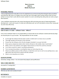 Sample Resume Of Manual Tester by Testing Resume 1 Sample Manual Testing Resumes Resume Sample