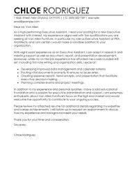 Salary Requirements Cover Letter Best Executive Assistant Cover Letter Examples What To Put For