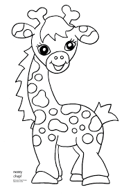 baby jungle animal coloring pagespin giraffes clip art pictures