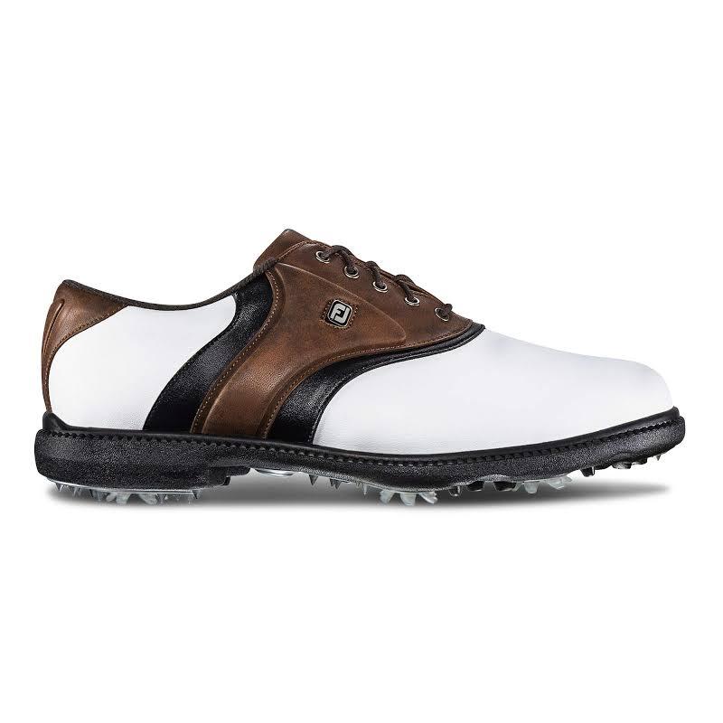 FootJoy Originals Golf Shoes White/Brown/Black,