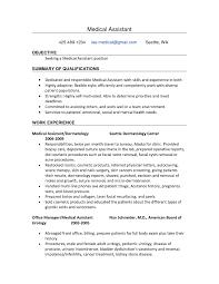 Sample Medical Assistant Resume  resume summary examples     medical assistant resume entry level best entry level resume       sample medical assistant