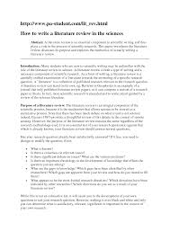 thesis literature review example Thesis literature review example