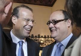 José Luis Pego y Javier García de Paredes, dos de los exdirectivos denunciados. / ANXO IGLESIAS. Recomendar en Facebook 0. Twittear 0. Enviar a LinkedIn 0 - 1340624468_009518_1340625939_noticia_normal