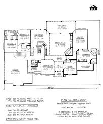 simple 2 story house floor plans with garage 1 bedroom as well 3