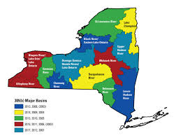 New York State Map by Usgs 305 B Groundwater Quality Monitoring Project Page