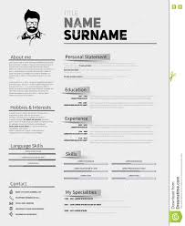 Curriculum Vitae Resume Template Resume Minimalist Cv Resume Template With Simple Design Compan