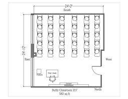 Classroom Floor Plan Builder Standard Classrooms Stonehill College