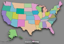 Map Of The Usa by Vector Colorful State Outlines Vector Map Of The Usa Download
