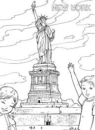 statue of liberty coloring page top new york statue of liberty