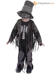 Kids Skeleton Halloween Costumes Age 4 9 Boys Girls Day Of The Dead Skeleton Fancy Dress Costume