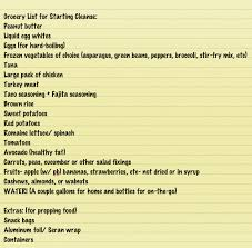 grocery guide grocery list for advocare cleanse great guide remember shop