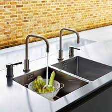 Poggenpohl Kitchen Cabinets Double Sink And Faucets Built In A Quarella Composite And Welded