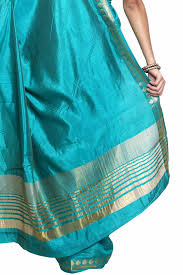 sudarshan colorful designer saree light blue ajs291 mn cotton
