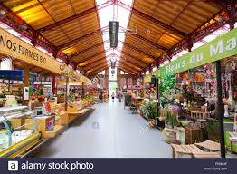 inside of the covered market hall colmar little venice alsace