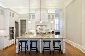 white kitchen cabinets with dark floors eight light brush nickel