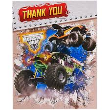 monster truck show missouri monster jam 3d thank you notes birthdayexpress com