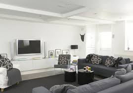 Gray ContemporaryModern Family Room Living Room Design Ideas - Contemporary family room design