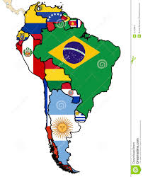 Political Map Of Latin America by Political Map Of South America Stock Photos Image 12428813