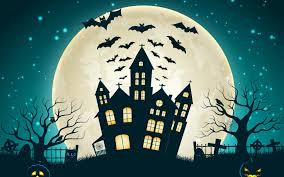 halloween pumpkin wallpapers holiday halloween scary house creepy full moon castle bats