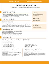 best engineering resume format   Template