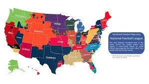 Zip Code Map Of Los Angeles by This Nfl Fan Map Breaks Down America U0027s Real Rooting Interests Or