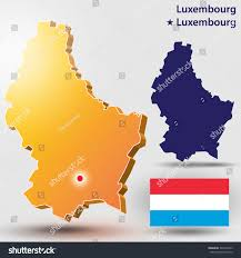 Luxembourg Map Map Luxembourg Vector Silhouette Luxembourg Flag Stock Vector