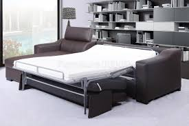 leather sleeper sofa bed and details about modern spain brown