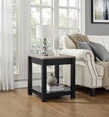 amazon com altra furniture carver end table black sonoma oak amazon com altra furniture carver end table black sonoma oak kitchen dining