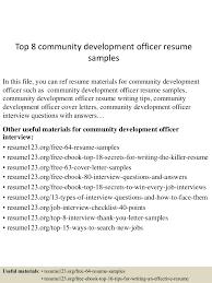 student resume format for campus interview top8communitydevelopmentofficerresumesamples 150522125353 lva1 app6891 thumbnail 4 jpg cb 1432299277