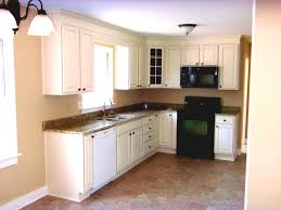 Orange And White Kitchen Ideas Awesome L Shaped Kitchen Decor With Black Wall And Orange Cabinet