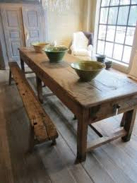 Wooden Kitchen Table With Bench Foter - Timber kitchen table