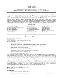 Qualifications Resume Example by Job Resume 33 Top Retail Store Manager Resume Assistant Store