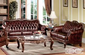 Leather Living Room Sets Sale by Leather Victorian Living Roomurniture Set Elegant Stores Antique