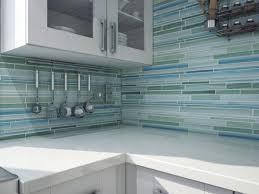 Blue Backsplash Kitchen Modern Kitchen With Green Blue Glass Peel Stick Mosaic Backsplash