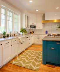 20 gorgeous kitchen cabinet color ideas for every type of kitchen white kitchen cabinets and blue island