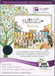 docrafts papermania dvd cd rom birdsong design software windows