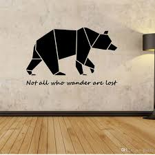 large geometric bear vinyl quote wall decal sticker home see larger image