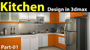 Kitchen Interior Photo Kitchen Design In 3d Max Part 01 Youtube