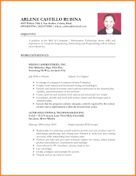 Sample Lawyer Resumes by 10 Sample Of Resume In The Philippines Buyer Resume