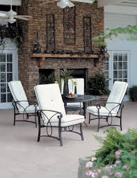 Black Wrought Iron Patio Furniture Sets by Dining Room Simple And Nice Red Round Outdoor Chair Cushion For