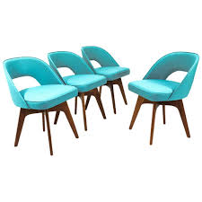 Swivel Dining Room Chairs Set Of Four Chet Beardsley Swivel Dining Chairs At 1stdibs