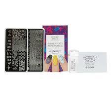 morgan taylor designer plates celebration nail stamping kit