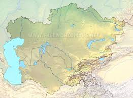 World Map Asia by Central Asia Physical Map